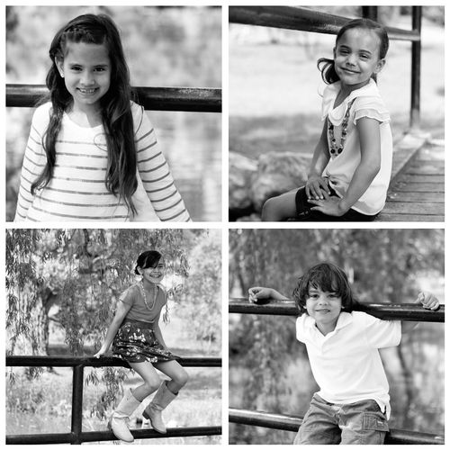 Kids collage bw
