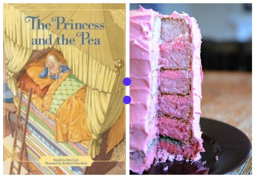 Princess and the pea collage