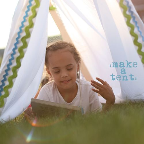 Make a tent manu