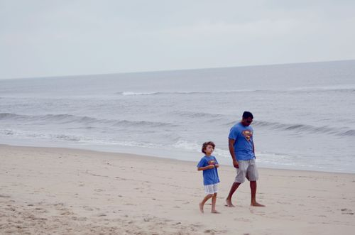 Jakes and pops on beach