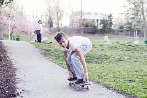 Eden skates with style