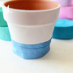 Crepe paper pot 4