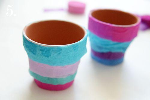 Crepe paper pot 5