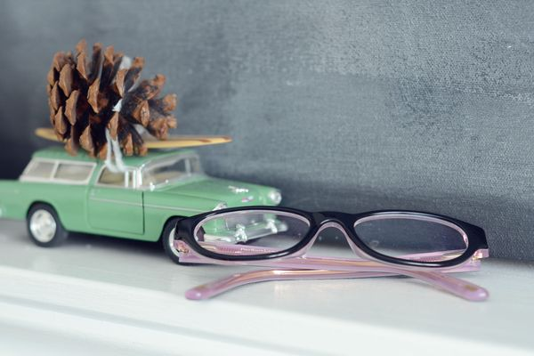 Manu glasses on mantle