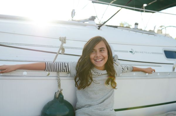 Els on boat